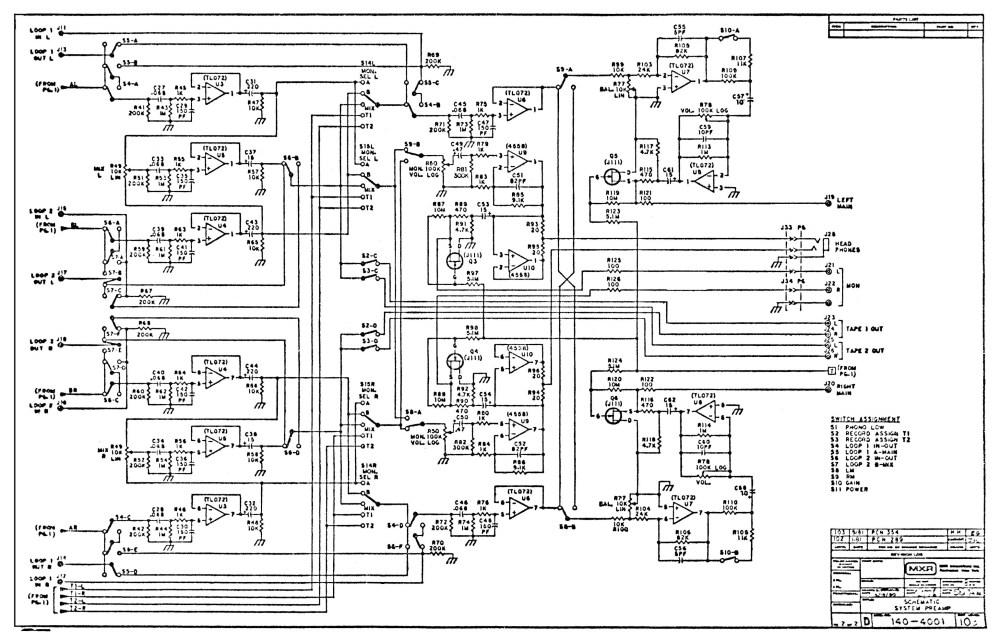 medium resolution of mxr system preamp m 140 schematic page 2