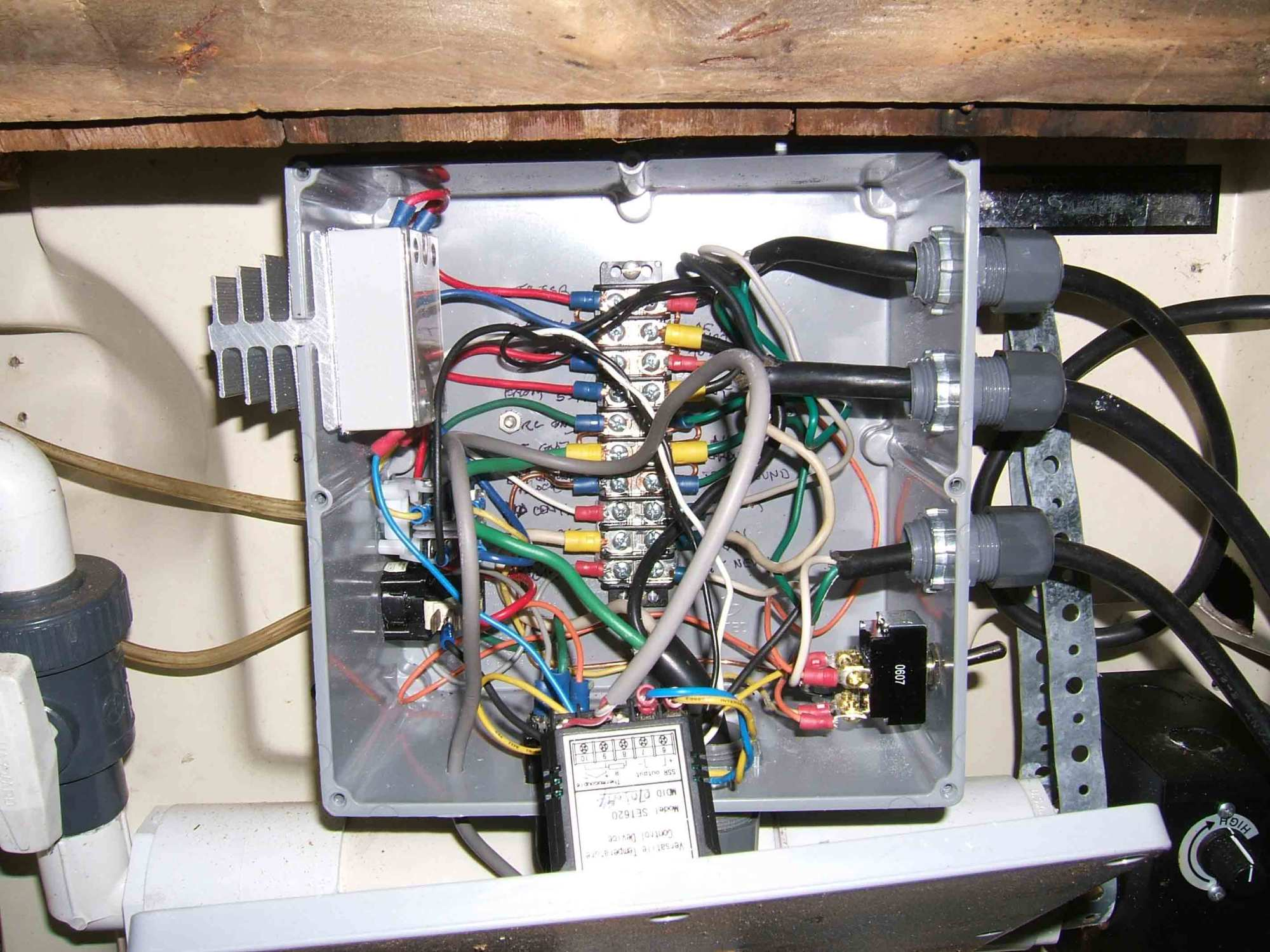 hight resolution of control box interior