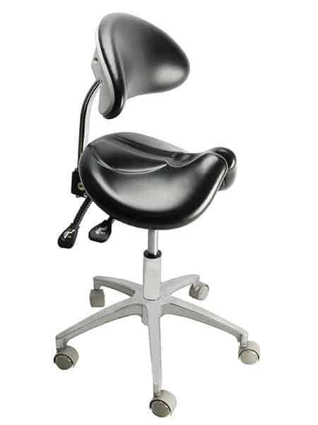 New Saddle Stool With Backrest Wholesale Tronwind