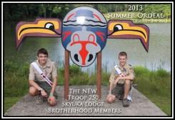 2013 Skyuka Lodge Troop 250 Brotherhood