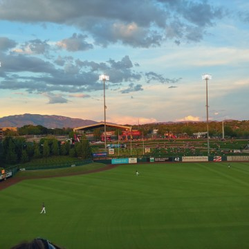 Pretty sunset over Isotope Park