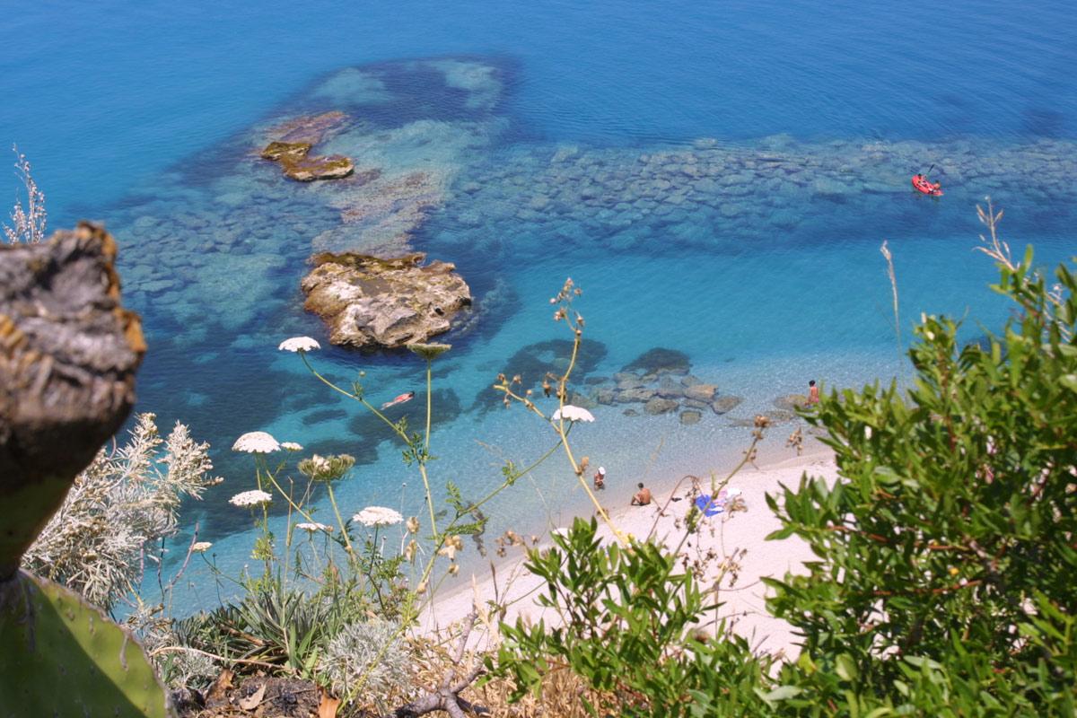 Tropea foto del mare delle spiagge della costa degli Dei