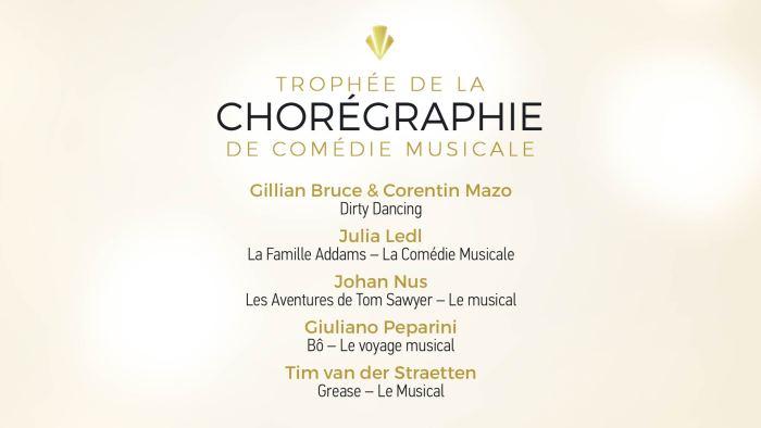 Trophée de la Chorégraphie de Comédie Musicale