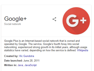 Google Plus is an Internet-based social network that is owned and operated by Google. The service, Google's fourth foray into social networking, experienced strong growth in its initial years, although usage statistics have varied, depending on how the service is defined.