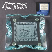 Ice Block Engraved Glass Coasters Supplied In A Branded Box. Price Includes Engraving.