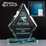 Diamond Rock Tablet Glass Awards Supplied In A Branded Box. Price Includes Engraving.