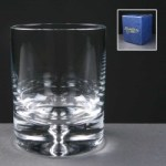 Balmoral Glass Bubble Based Engraved Whisky Glasses In Blue Cardboard Box