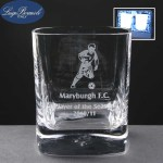 2x Strauss Engraved Whisky Glasses In Presentation Box