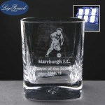 6x Strauss Engraved Whisky Glasses In Presentation Box
