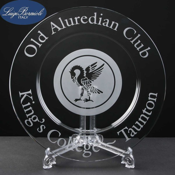 Classico Engraved Glass Plates In Cardboard Box. Price Includes Engraving.