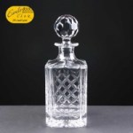 Earle Crystal Engraved Decanters With Panel For Engraving Supplied In A White Cardboard Box. Price Includes Engraving