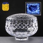 Earle Crystal Engraved Crystal Rose Bowls With Panel For Engraving Supplied In A Satin Lined Presentation Box. Price Includes Engraving
