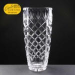 Earle Crystal Engraved Crystal Vases With Panel For Engraving Supplied In A White Cardboard Box. Price Includes Engraving.