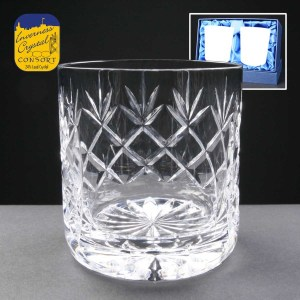 2x Earle Crystal Engraved Whisky Glasses Wth Panel For Engraving In Presentation Box