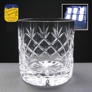 6x Earle Crystal Engraved Whisky Glasses With Panel For Engraving In Presentation Box