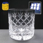 6x Earle Crystal Engraved Whisky Glasses With Panel For Engraving In Presentation Box 1