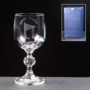 Claudia Wine Glass In Blue Cardboard Box