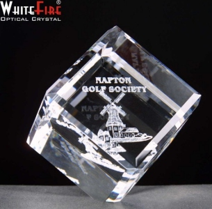 Whitefire Balancing Cube Crystal Awards Supplied In A Velvet Lined Presentation Case. Price Includes Engraving.