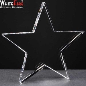Whitefire Star Shaped Crystal Awards Supplied In A Velvet Lined Presentation Case. Price Includes Engraving.