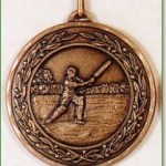 Cricket Medal - 50mm