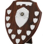 Mahogany Coloured Wooden Annual Shields With Silver Trims 1