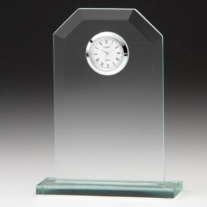 Engraved Jade Glass Clocks