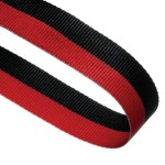 Red/Black Woven Medal Ribbons With Clip 1