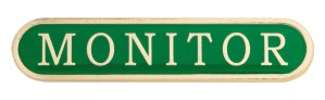 Monitor Badge - Available In Red - Blue - Green - Yellow