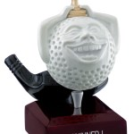 """Winner"" Comic Golf Ball Trophies On Wooden Base"