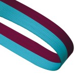 Claret / Blue Woven Medal Ribbons With Clip