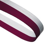 Maroon / White Woven Medal Ribbons With Clip 1