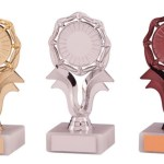 Centre Holder Trophies on White Marble Base