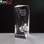 Whitefire Tain Column Crystal Awards Supplied In A Velvet Lined Presentation Case. Price Includes Engraving.