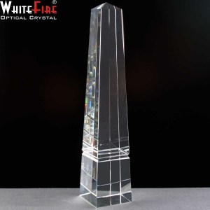 Whitefire Nairn Column Crystal Awards Supplied In A Velvet Lined Presentation Case. Price Includes Engraving.