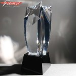 Shooting Star Fusion Crystal Awards Supplied In Velvet Lined Presentation Case. Price Includes Engraving.