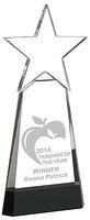 Crystal Awards With Star Supplied In Presentation Box. Price Includes Engraving.