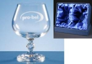 2x Claudia Engraved Brandy Glasses In Presentation Box
