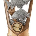 Carp Fishing Trophies In Antique Gold Coloured Finish