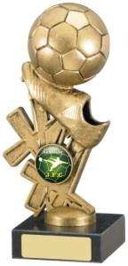 Football Trophies on Black Marble Base