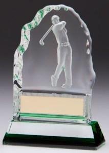 Iceberg Glass Golf Trophies