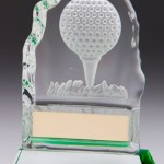 Iceberg Glass Golf Trophies