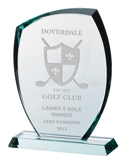 Jade Glass Awards Supplied In Presentation Box. Price Includes Engraving