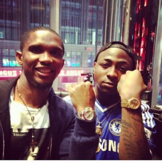 Davido and Samuel Eto'o