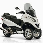 the motor of this Piaggio was designed for better performance and low gas consumption and is more environmentally friendly.