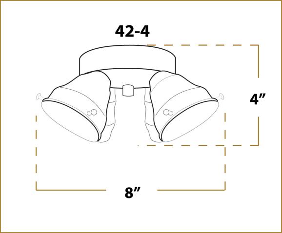 42 Turgle Fitter 4 Bulb Adaptable Ceiling Fan Light Kit