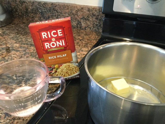 Make rice as instructed on package