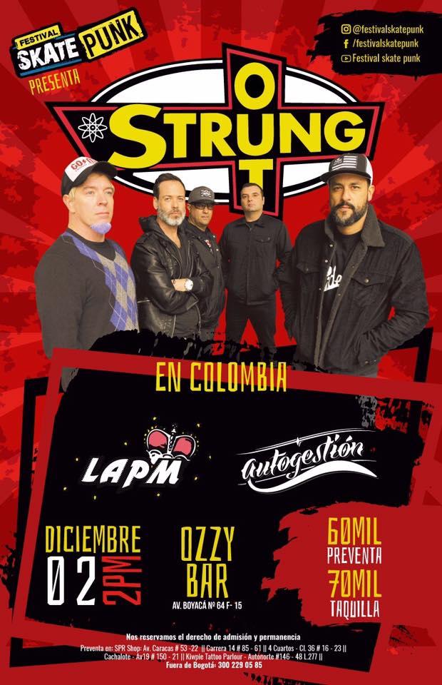 Strung Out en Bogota con la participación de LAPM