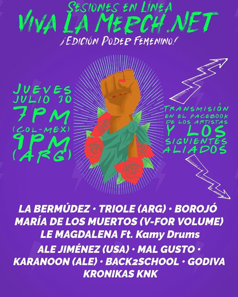 Sesiones en linea - Viva La Merch (Poder Femenino)