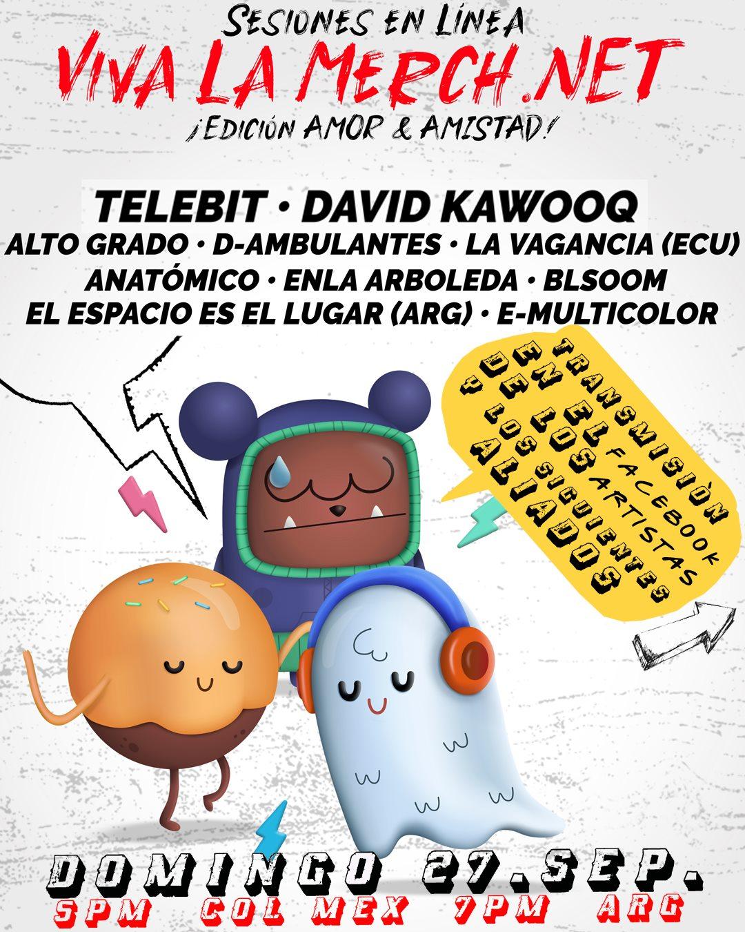 Sesiones en line Viva La Merch - Edición Amor y Amistad