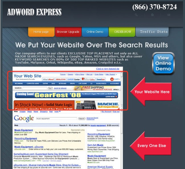 AdWord Express is a scam